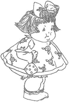 Little Girl Embroidery Designs: Fat Girl Embroidery Design