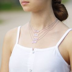 """Inspirational Statement Necklace with CZ Stone in Rhodium with 18"""" Adjustable Pull Chain"""