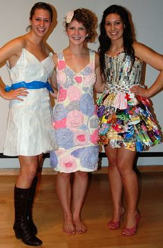Fashion out of fused plastic bags