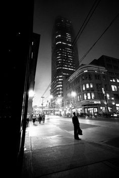 Toronto Streets at Night   Toronto Street Photography – A Foggy Night at The Corner of Yonge ...
