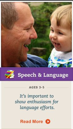 When your child increases her language ability, show her you've noticed. Click for details. details. #SpeechandLanguage
