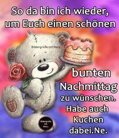 Teddy Bear, Good Morning Gif, Good Day, Morning Sayings, Good Night Funny, Good Morning Images, Coffee And Books, Good Coffee, Teddy Bears