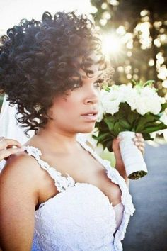 Long and Short Weddings Hairstyles54-short black curly wedding hairstyle