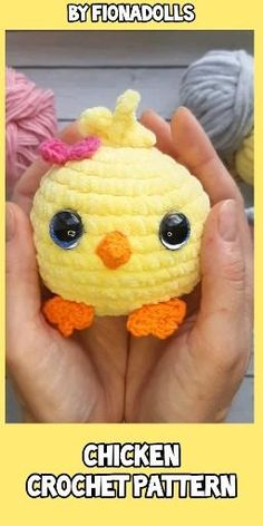 Easter Crochet Patterns, Crochet Patterns For Beginners, Crochet Patterns Amigurumi, Crochet Dolls, Cute Crochet, Easy Crochet, Baby Blanket Crochet, Crochet Baby, Crochet Chicken