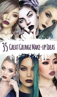 35 Great Grunge Make-up Ideas - Wanna look Grunge? Then take a look at these awesome 35 makeup look ideas and get inspired! - http://ninjacosmico.com/35-grunge-make-up-ideas/