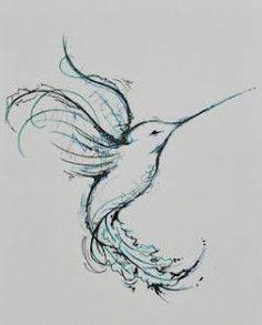 hummingbird abstract watercolor pencil - Google Search