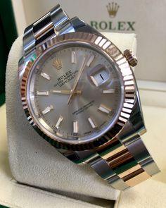 Rolex Datejust 41 Steel & Everose Gold Rose Baton Dial 126331