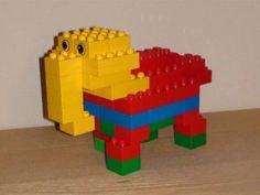 Met stappenplan:Duplo van een olifant, giraffe, krokodil, slang, vissen, vogel, etc.