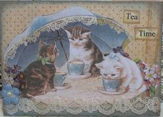 kitty tea time, traded | Flickr - Photo Sharing!