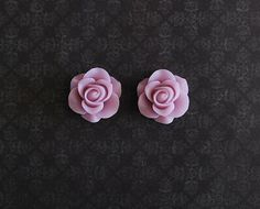 Lavender Rose Girly Plugs  2g 0g 00g 7/16  Pick Your Size by ryarr