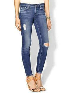 Keep casual cool in a pair of distressed denim (AG)