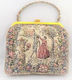 Tapestry Purse JR Miami Dusty Rose and Green Dancing Couple