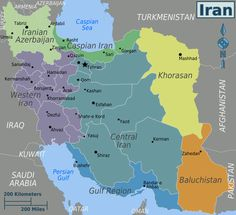 A map for your reference: The regions of Iran