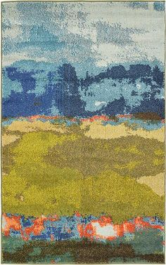 Blue Casablanca Area Rug