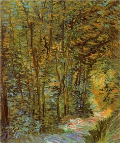 Path in the Woods, 1887. Vincent van Gogh