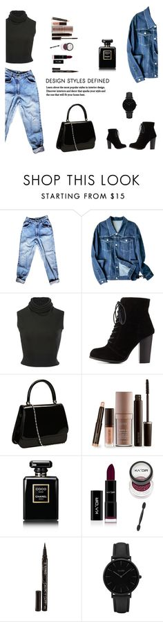 """""""Untitled #152"""" by stephshadowhunter ❤ liked on Polyvore featuring Brandon Maxwell, Charlotte Russe, Laura Mercier, Chanel, Smith & Cult and CLUSE"""