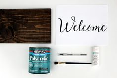 Supplies for DIY Calligraphy Sign