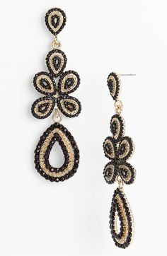 Tasha 'Ornate' Linear Statement Earrings available at Nordstrom