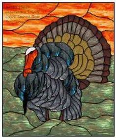 Image Detail for - Turkey Faux Stained Glass Window Film