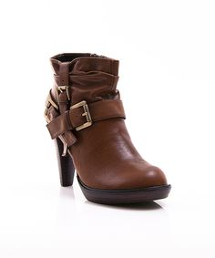 Take a look at this Brown Ginevra Bootie on zulily today!