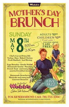 (05.08.2016) — Treat Mom to a special Mother's Day Brunch Buffet at Webb's Captain's Table on beautiful Chautauqua Lake in Mayville, NY. Find her the gifts she will love at our adjoining home decor and gift shop or from the candy store next door. #WebbsEvents #WebbsGifts