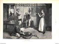 Heiteres Quartier ( Karl Müller)  / Druck, Entnommen Aus Zeitschrift /1896 - Bücher, Zeitschriften, Comics