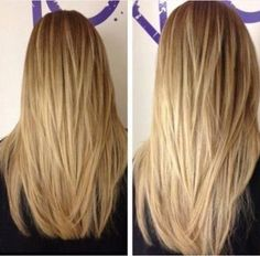 Getting this done. It looks like a lot of layers but hopefully it will take off some weight to my long straight across hair cut. by diane.smith