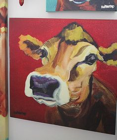 Look at this Cow Wrapped Canvas on #zulily today!