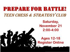 Show off your skills at our monthly Chess & Strategy Club! We play various strategy games in addition to Chess!