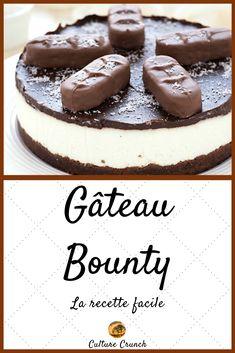 Bounty cake the straightforward recipe Baked Dinner Recipes, Vegan Dessert Recipes, No Bake Desserts, Easy Desserts, Baking Recipes, Cookie Recipes, Baked Cheesecake Recipe, Keto Cheesecake, Bounty Cake