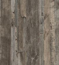 Papel pintado madera decapada vinílico estilo rústico - 1142284