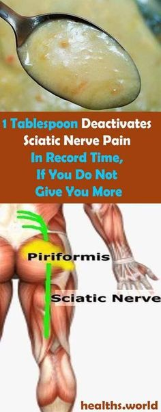 1 Tablespoon Deactivates Sciatic Nerve Pain In Record Time, If You Do Not Give You More #health #beauty #getrid #howto #exercises #workout #skincare #skintag #bellyfat #homeremdieds #herbal