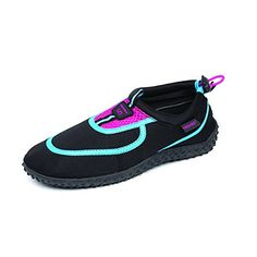 Fresko Womens Water Shoe L1013 BlackFuchsia 5 M US *** Want to know more, click on the image. (This is an affiliate link)