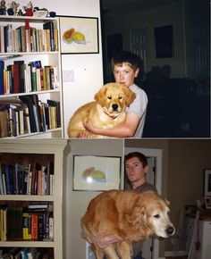 Then & Now Pictures of Animals growing up (10 years)