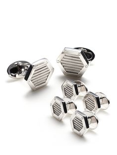 Hexagon Cufflinks & Tuxedo Screws