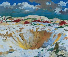 An poster sized print, approx (other products available) - Mine crater on the Somme, northern France, covered in snow during the First World War. Date: circa - Image supplied by Mary Evans Prints Online - Poster printed in the USA Somme France, Ww1 Art, Battle Of The Somme, Fine Art Prints, Canvas Prints, Art Uk, Old Master, Your Paintings, Photographic Prints