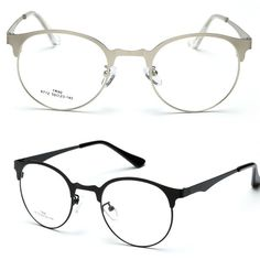 Retro Round Browline Eyeglasses Ultra Thin FRAME CUSTOM MADE OPTICAL prescription READING GLASSES MYOPIA  +1 +1.5 +2  To +6