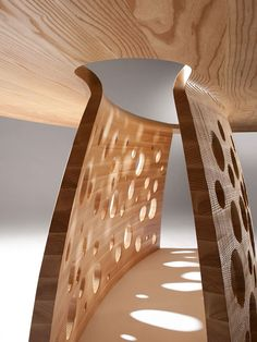 ♂ Unique product design wood table Salcombe by John Lee