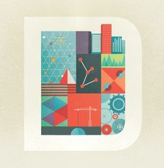Vibrant retro color scheme. Vector illustration by Gavin Potenza #flat