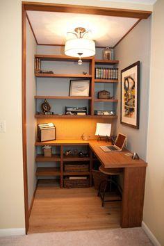 Closet Office On Pinterest Closet Desk Home Office