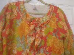 Isaac Mizrahi Live! Floral Printed Ruffle Front Cardigan QVC Size Large RETIRED #IsaacMizrahiLive #CardiganSweater