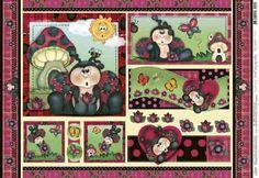 Papel Decoupage Joaninhas Litoarte Pd 49x343 Cm Picture picture