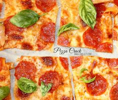 ~Pizza Crack!  MADE WITH WONTON WRAPPERS FOR A THIN CRUST