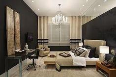 black and beige dream bedroom