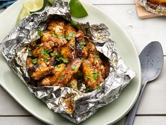 Find the best easy-to-make grilled seafood recipes and ideas for your summer barbecue or grilling party from Food Network. Jerk Chicken, Chicken Wings, Chicken Breasts, Grilled Chicken, Grilled Shrimp, Cilantro Chicken, Grilled Food, Stuffed Chicken, Chicken Curry