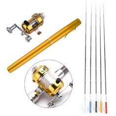 Outdoor Mini Baitcasting Telescopic Fishing Rod + Reel