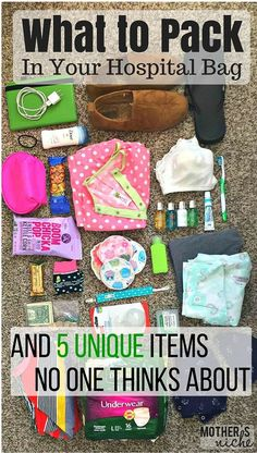 What to pack in your hospital bag for labor and delivery (for mom baby AND dad). Some super helpful tips here! And some items I wouldn't have though of!