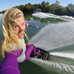 """I don't want to get to the end of my life and find that I lived just the length of it. I want to have lived the width of it as well."" - Diane Ackerman. Photo by Swedish pro wakeboarder @wakecarro. #GoPro #Wake #GoProGirl"