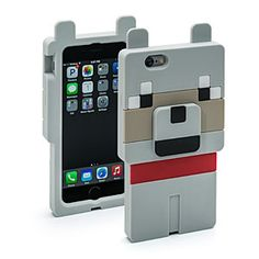 Even if you can't play Minecraft, you can have a bit of it with you. We have the Minecraft Wolf Character Case for your iPhone 6, iPhone 5/5s, iPad mini, or Samsung S5.
