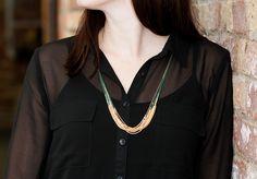 Onyx Silk Dip Necklace